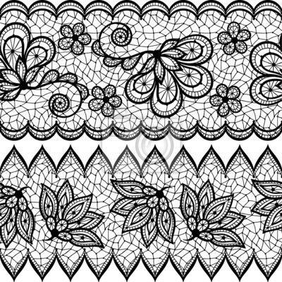 Papier peint Vieux motif de dentelle transparente, bordure ornementale. Vecteur texture.