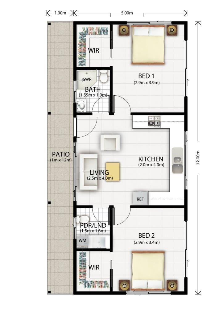 Cromer Granny Flat Design Floor Plan                                                                                                                                                                                 More