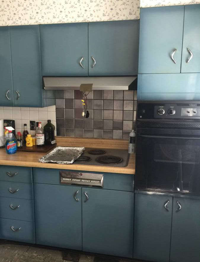 Best Burnt Blue Youngstown Steel Kitchen Cabinets What A 400 x 300