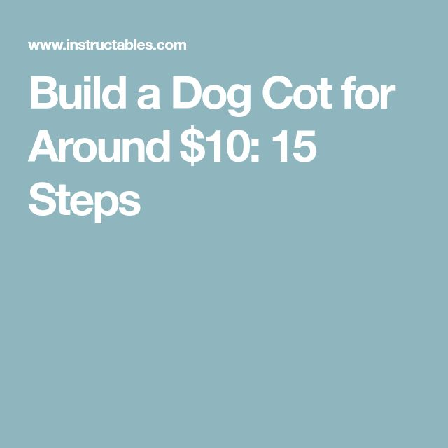 Build a Dog Cot for Around $10: 15 Steps
