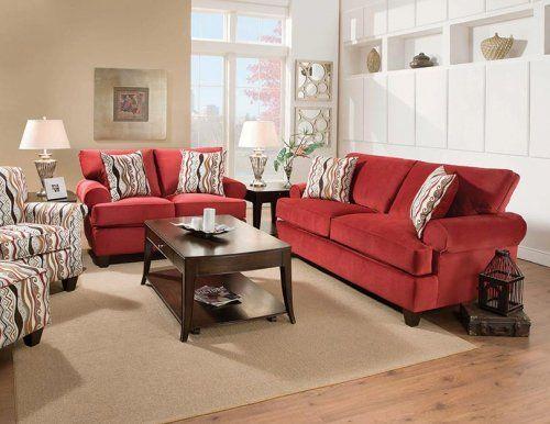 47B Jackpot Red Living Room