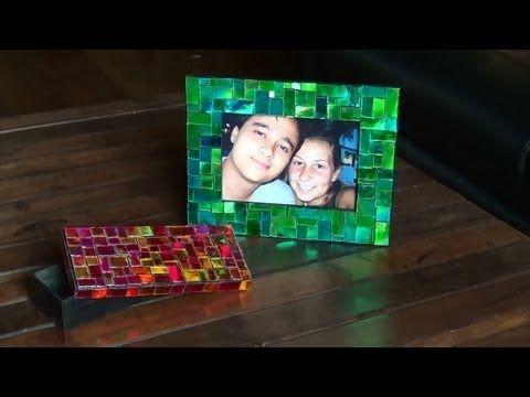 DIY - Mosaico com CDs - Mosaic with CDs - YouTube