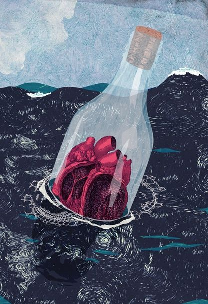 I sealed my heart away and cast it out to sea