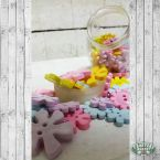 Pastel Flower Buttons are great for scrapbooking...