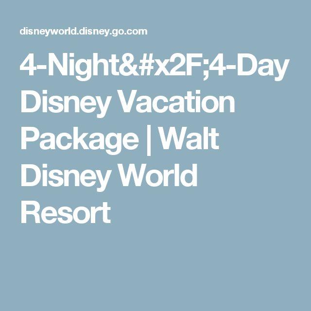 4-Night/4-Day Disney Vacation Package | Walt Disney World Resort