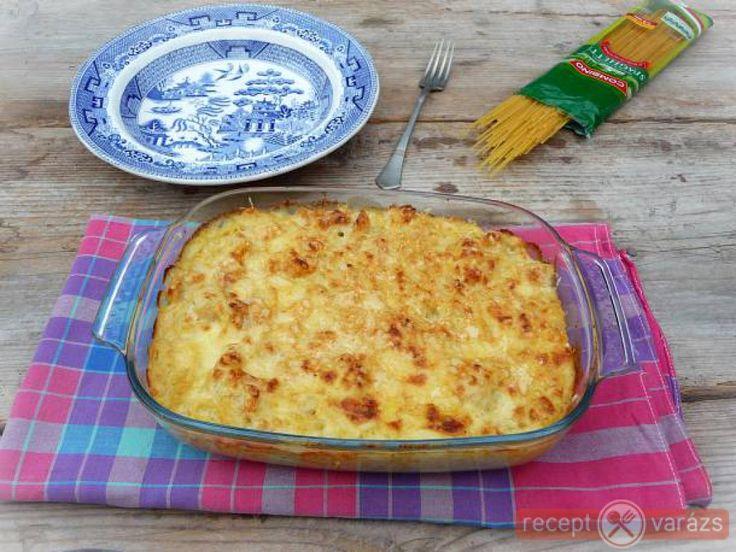 Karfiolos-sajtmártásos spagetti Készítsd el akár 2, vagy 12 főre, a Receptvarazs.hu ebben is segít!