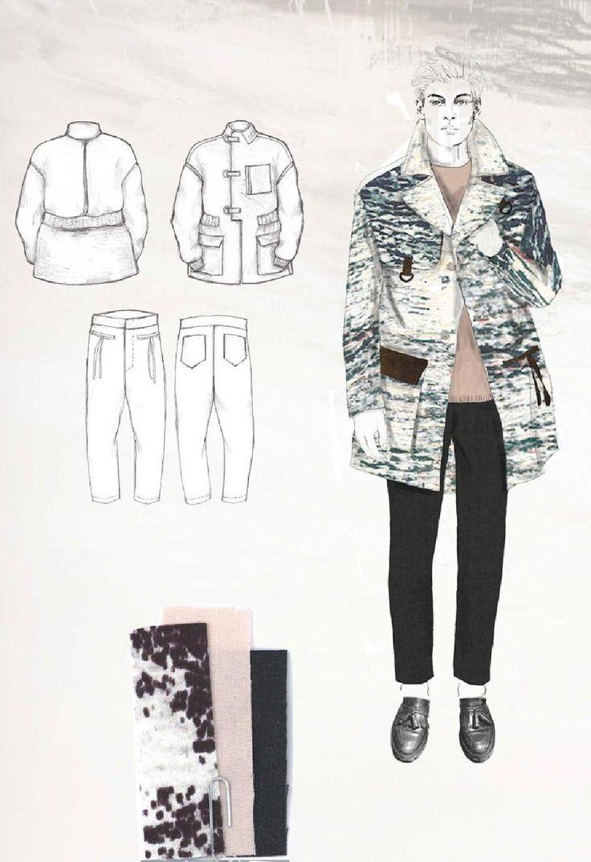 Fashion Sketchbook - fashion illustrations & fabric layout; fashion portfolio // Robyn Priestley