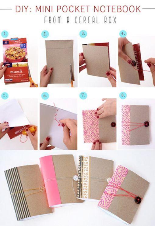 transformer boite de céréale en carnet                                                                                                                                                                                 Plus