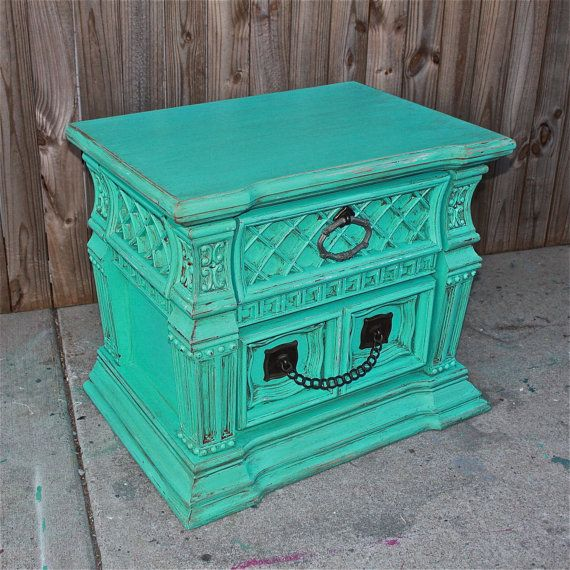 Vintage Blue Bedroom Bedroom End Tables Modern Master Bedroom Bed Designs Small Bedroom Decorating Ideas Pictures: Bayside Blue Night Stand/ End Table /Accent Table /TV