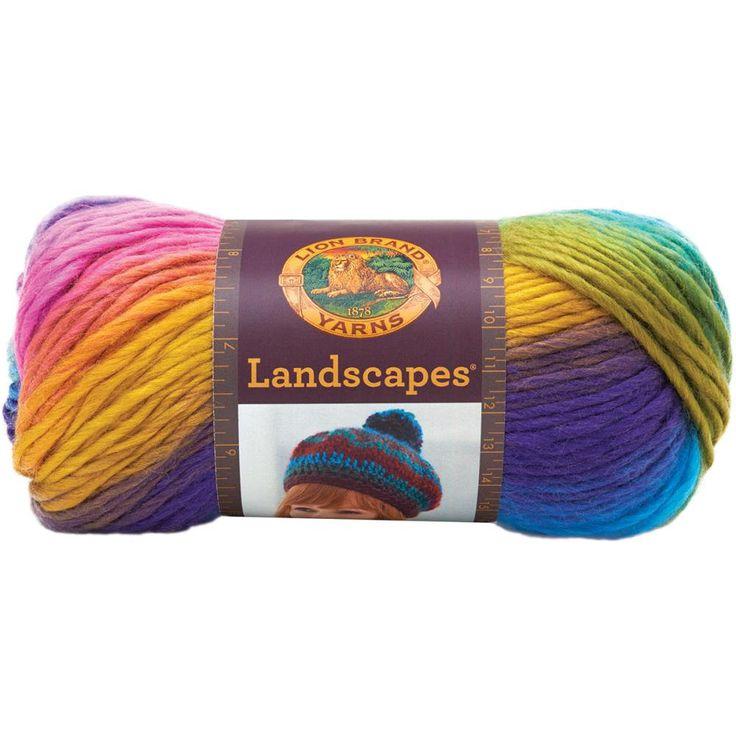 Lion Brand Landscapes Self Striping Yarn in Boardwalk