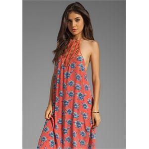 Acacia Swimwear Postiano Silk Long Dress in Pink
