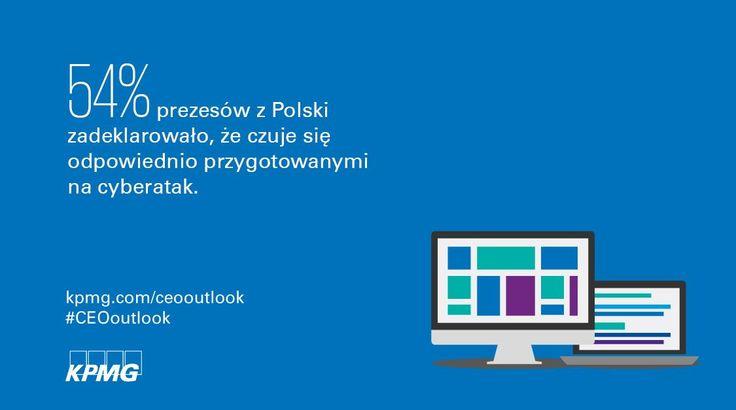 2017 Global CEO Outlook  | 54% prezesów z Polski zadeklarowało, że czuje się odpowiednio przygotowanymi na cyberatak.