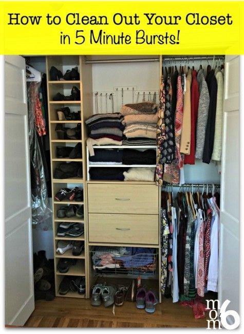 how to clean out your closet in 5 minute bursts closet