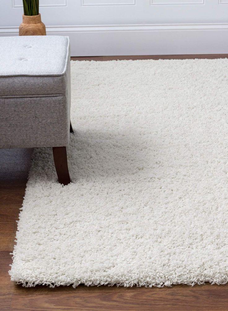 Shag Rug White High Quality Carpet Polypropylene  #rugs #floordecor #fab #carpet #homedecor #arearugs #homeaccents #homeideas #interiorstyling #decorating