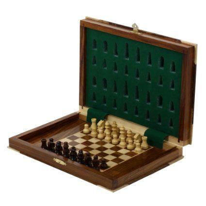 Jeu d'échecs - Échiquier boite de rangement en bois - Idée cadeau de noël: Amazon.fr: Jeux et Jouets