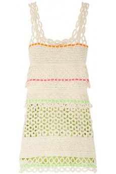 Moschino Cheap and Chic Crocheted cotton dress | THE OUTNET