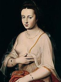 Diane de Poitiers 1500-69 Mistress of HenryII who was married to Catherine De Medici