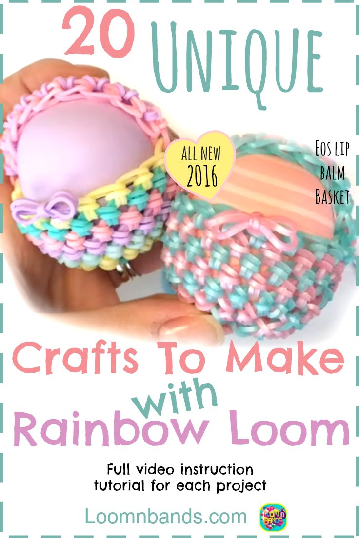 20 Craft Projects To Make With Loom Bands All New 2016! Rainbow Loom bracelets, Rainbow Loom instructions, Rainbow loom Tutorials, Rainbow Loom ideas, All 20 Projects are unique, fabulous and interesting! I hope you love them as much as I do!