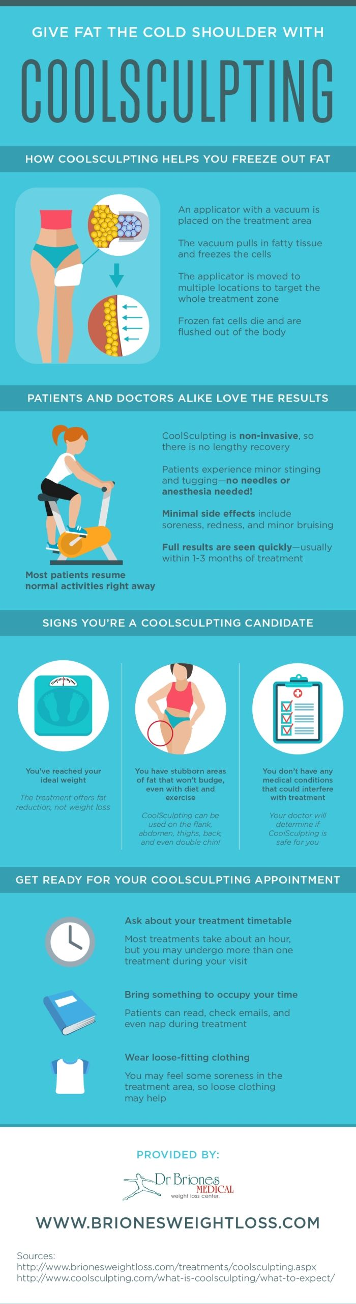 One of the best parts about CoolSculpting is that you won't have to go through a long recovery! Learn about how this treatment can help you by looking at this infographic. #infographic #datavisualization #coolsculpting #fat
