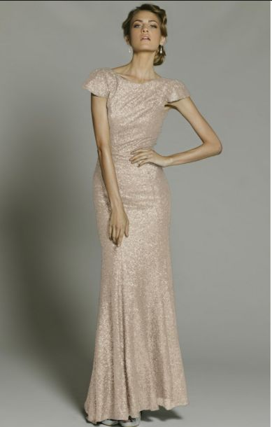 Chanel sequin gown #gold #bridesmaid  https://www.bellebridesmaid.com.au/product/chanel-sequin-gown/