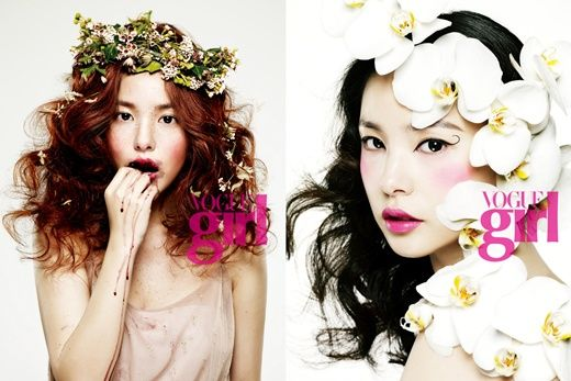 Korean Vogue, flower girl