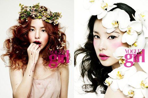 Korean Vogue, flower girl