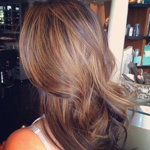 brown hair with soft highlights