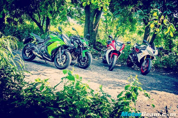 Pick your favourite bike amongst these #MotorBeam #India #shootout #Kawasaki #Ninja #Z800 #Triumph #Daytona #Honda #CBR #bikersofinstagram #bikeswithoutlimits #bikestagram #bikeporn #pistonaddictz #engine #bhp #torque #wheelie #stoppie #Delhi #Mumbai #Pune #Bangalore #Chennai #Kolkata #Hyderabad #Kochi #Goa #Jaipur