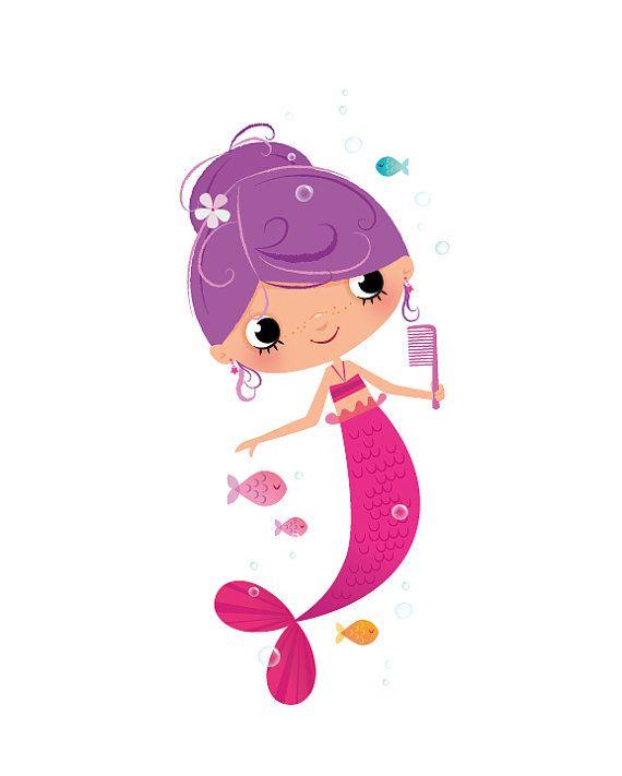 Un poco de sirena en bonitos tonos de rosa y púrpura flotando felizmente bajo el océano! Esta impresión de arte contemporáneo tendría una adición hermosa a cualquier dormitorio o sala de juegos infantil, un regalo encantador para un nuevo bebé. Esto es un Fine Art Giclée archivo y está firmado por la mano en el reverso. Continuar haciendo compras para las impresiones aquí: www.etsy.com/ie/shop/IreneGoughPrints — Imprimir detalles — Imprimir tamaños disponibles: 8x10in y 11...