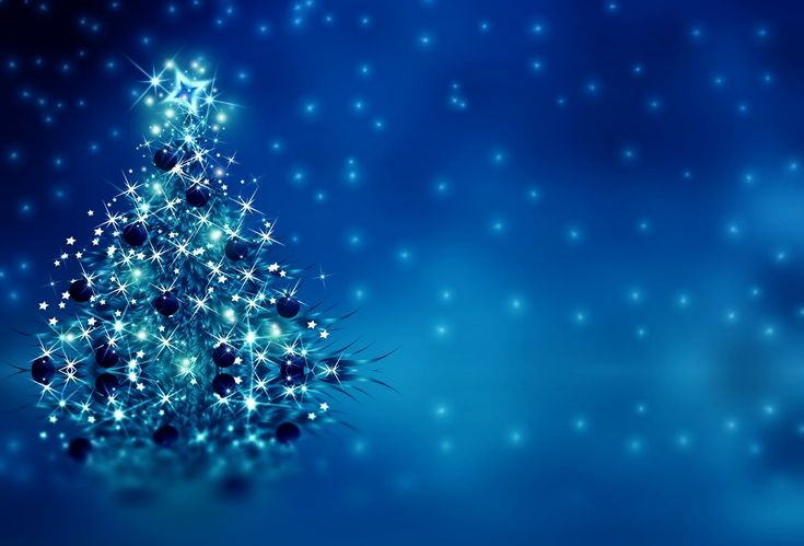 Holiday Christmas  Holiday Christmas Tree Blue Silver Sparkles Wallpaper