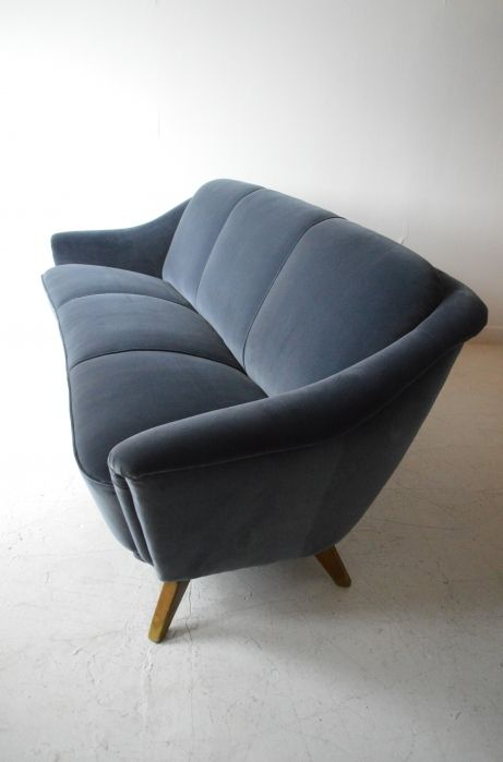 1930s velvet sofa. #deco #sofa - now this would be perfect in the family room. Right era style.