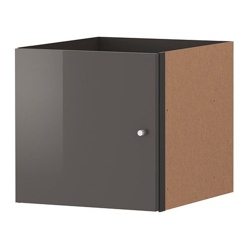 EXPEDIT Insert with door IKEA The high-gloss surfaces reflect light and give a vibrant look.