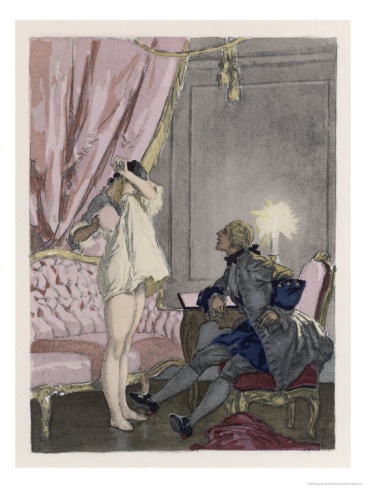 Giovanni Giacomo Casanova Chevalier de Saingalt Italian Adventurer with Tonina at Murano Giclee Print by Auguste Leroux at Art.com