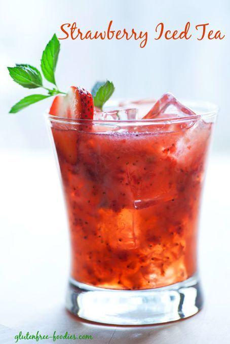 how to make hot strawberry tea