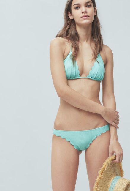 Bikini color menta Mango