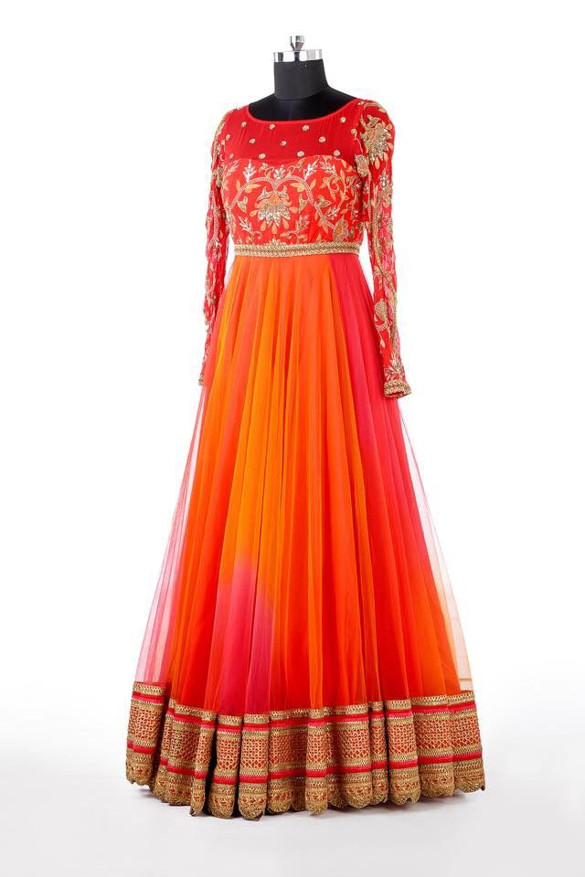 Floor length anarkali dress- #Mrunalini Rao collections- Hyderabad