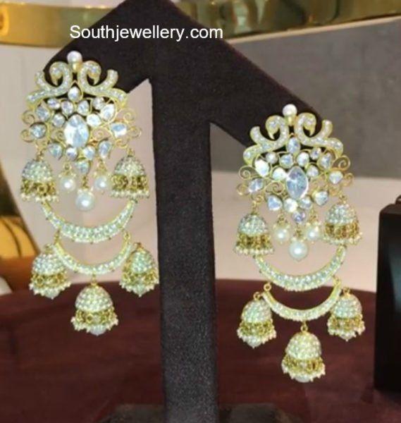 Lakshmi Manchu in Polki Diamond Earrings photo