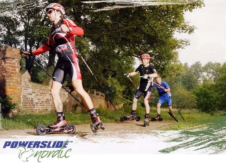 Un modo nuovo per pattinare in mezzo alla natura, una via di mezzo tra il pattinaggio e lo skiroll. Le speciali ruote pneumatiche da 150 mm vi permetteranno di muovervi agevolmente anche su percorsi sterrati - www.skiroll.it