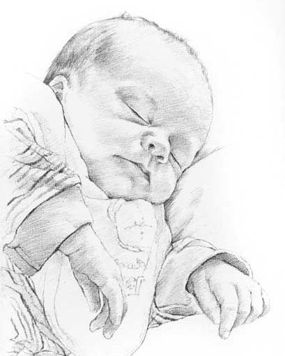 Image result for pencil art of baby mermaids | Baby ...