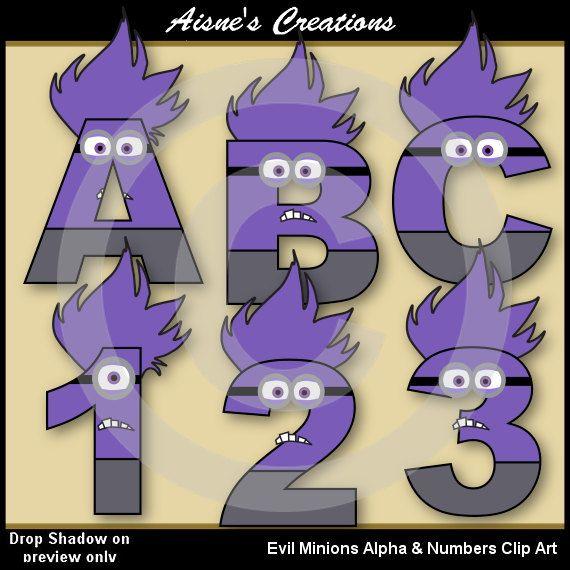 Números y letras del alfabeto malvados secuaces por AisnesCreations