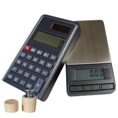 G&G PC+G 200g/0,01g + Pr�fgewicht Taschenwaage & Taschenrechner (2 in 1) Feinwaage Digitalwaage Goldwaage M�nzwaage Scale (200g x 0.01g)