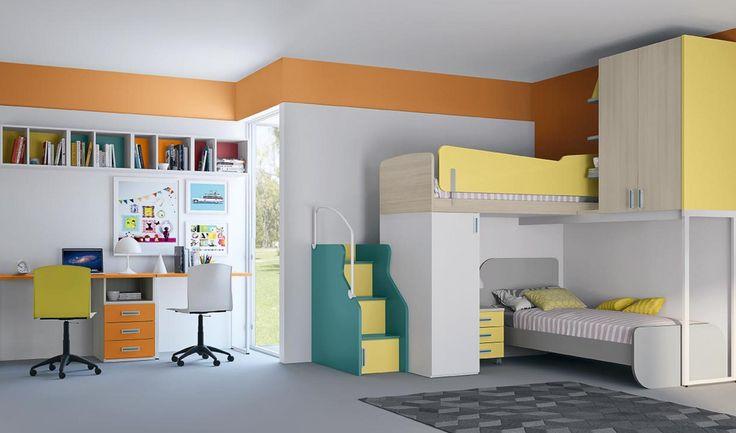 мебель для детских двухъярусные кровати C134 линейный