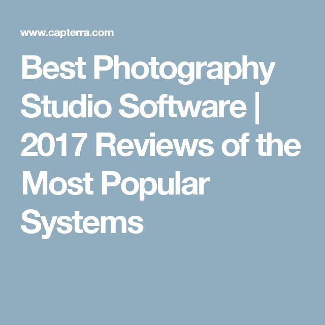 Best Photography Studio Software | 2017 Reviews of the Most Popular Systems
