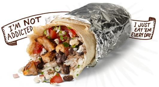 Chipotle Burrito Copycat Recipe Main Dishes with brown rice, boneless skinless chicken breasts, chili beans, black beans, roma tomatoes, romaine lettuce, lime, cilantro, salt, black pepper, cumin, chili powder, garlic, oregano, onions, oil, butter, jalapeno chilies, hot sauce