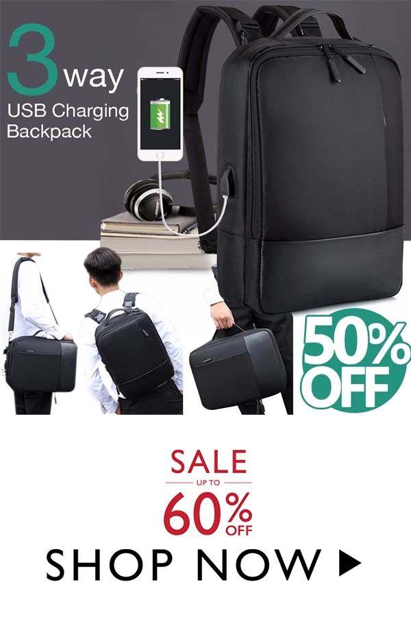 Men's Premium Anti-theft Laptop Backpack with USB Port