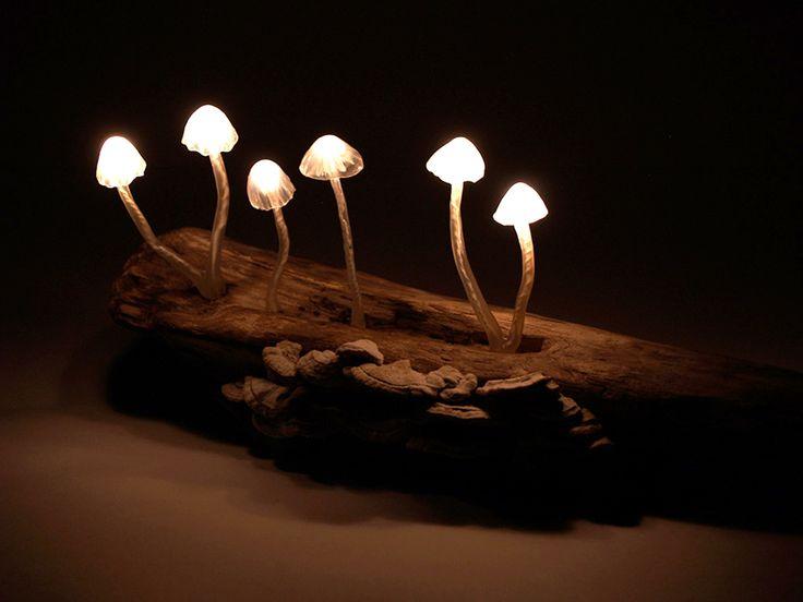 Mushroom LED Lamp by Great Mushrooming / Yukio Takano