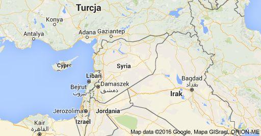 Mapa: Syria