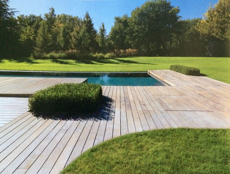 198 best images about zwembad zwemvijver on pinterest gardens pool houses and pools - Terras teak zwembad ...