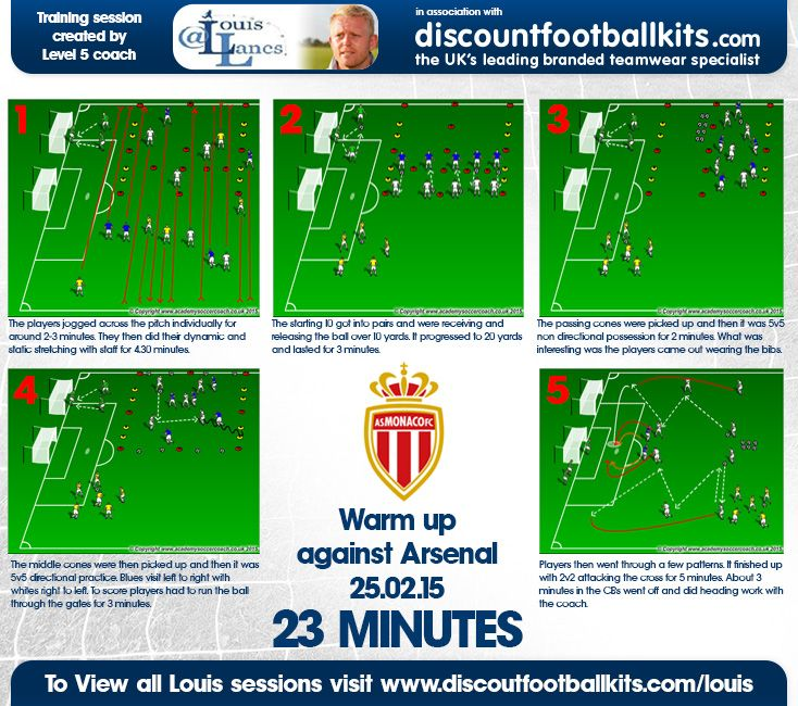 Monaco vs Arsenal warm up.