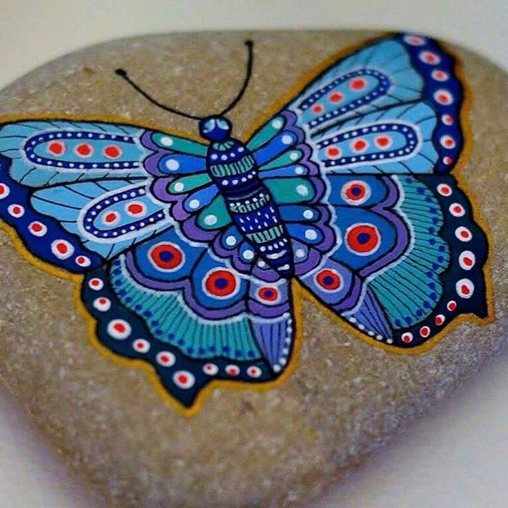 Mandala Painted Rocks Stone Art
